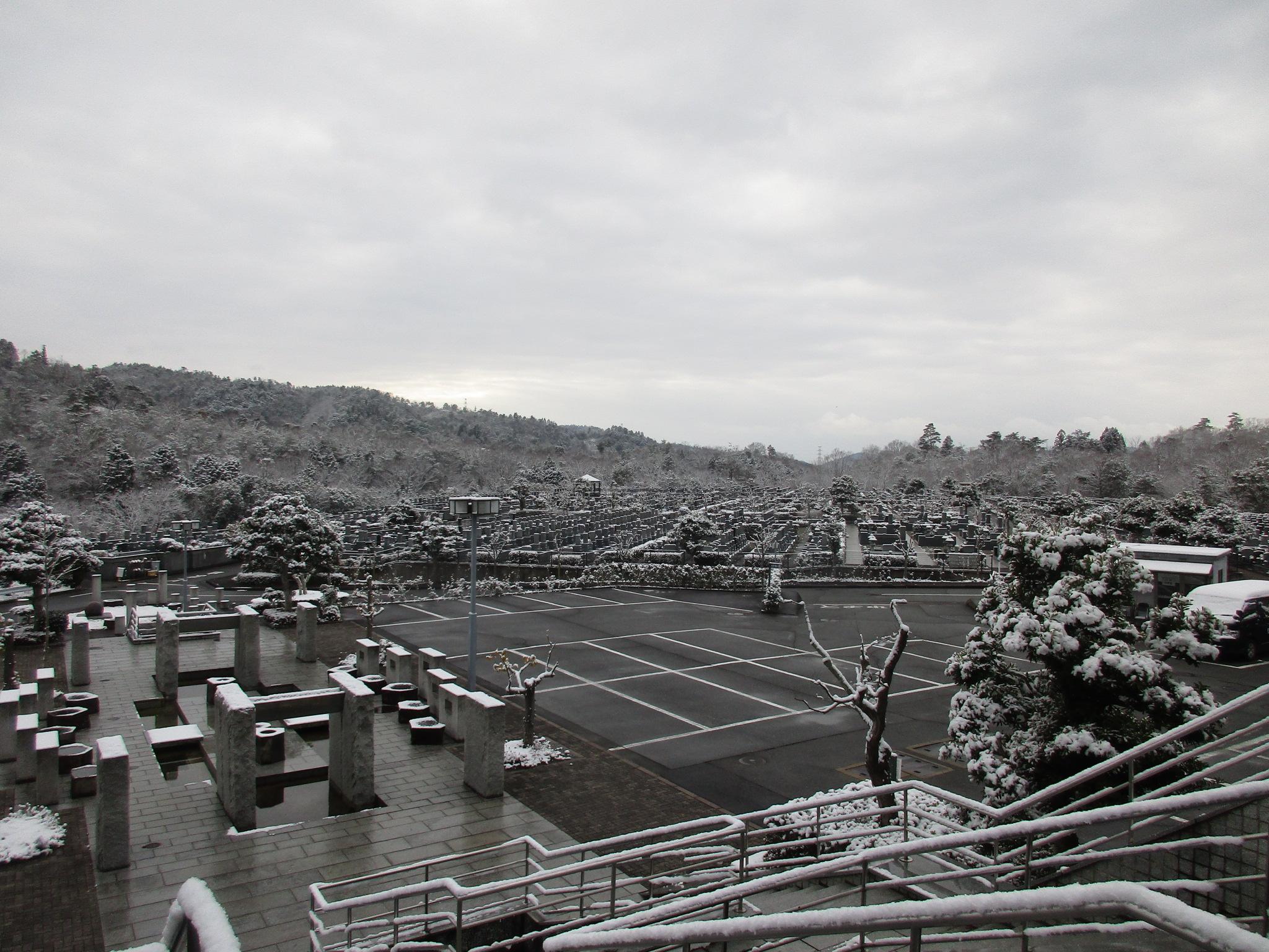 川西大霊苑 平成31年1月 雪化粧